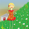 Miss Leyna Lily picks flowers for her friends. Illustrations by Nancy Ann.