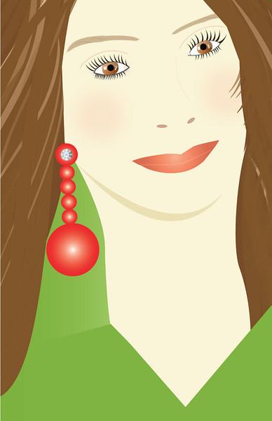 """""""The Brunette"""", Glamour Girls by Nancy Ann Photo-<br /> Graphics, Adobe Illustrator"""