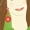 """The Brunette"", Glamour Girls by Nancy Ann Photo-<br /> Graphics, Adobe Illustrator"