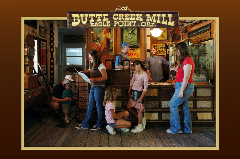 Post card for Butte Creek Mill, Eagle Point, Oregon