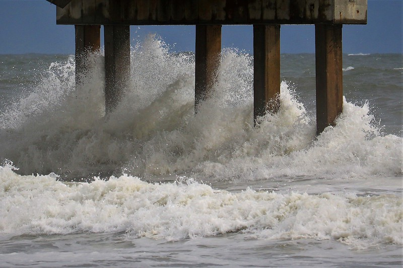 Water Spray on Pier