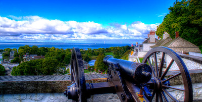 Gun placement at Fort Mackinac