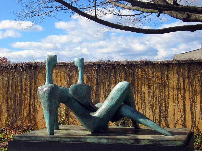 Facing Couple, 1999, Itzik Benshalom. At the Grounds for Sculpture, 18 Fairgrounds Road, Hamilton NJ