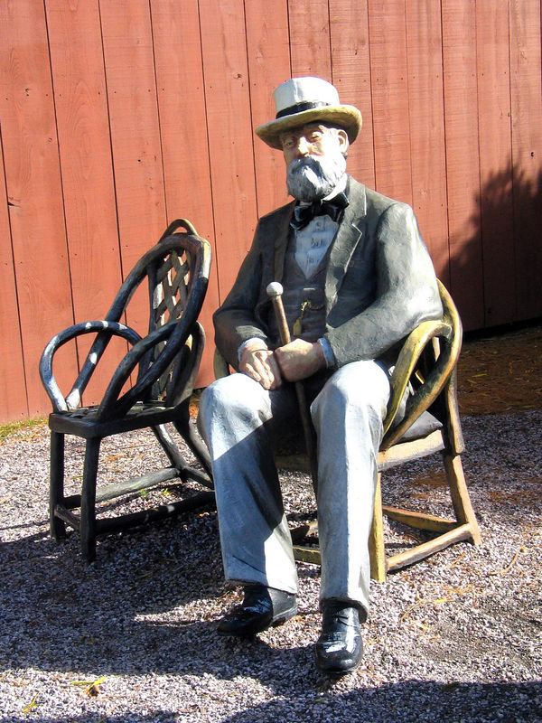 A section of If it were time, 1999, J. Seward Johnson, Jr.  At the Grounds for Sculpture, 18 Fairgrounds Road, Hamilton NJ