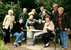 Sandy, Rosalie, Bob, Rita Jerry, Carol, Hal and Winnie at the Grounds for Sculpture, 18 Fairgrounds Road, Hamilton NJ