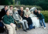 Rosalie, Jerry, Carol, Winnie, Rita (F), Sandy (R), Haland Bob  at the Grounds for Sculpture, 18 Fairgrounds Road, Hamilton NJ