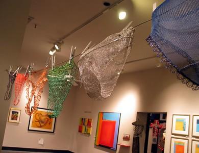 Sculpture by Joyce Zipperer, paintings by Sondra Arkin, pastels by Mary Beth Ramsey- Artomatic 2004