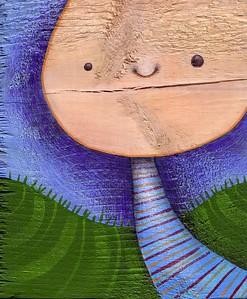 "Anna Nazaretz, ""Untitled (Crack A Smile)""  Acrylic on wood"