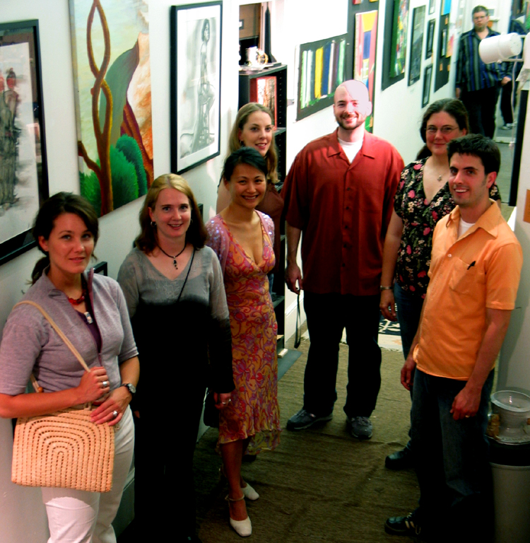 Johanna, Aleta, Louella, Alyssa, Matt, Emily and Robert: The Artists