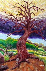 "John Aaron, ""Witness Tree,"" (2002) Oil on canvas,  Private Collection,  Arlington, VA"