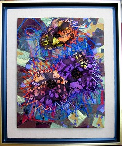 "Chad Alan, ""Creationism I"" (from the Creationism series) 2004, Modern fabric, Retail: $ 400. each panel"