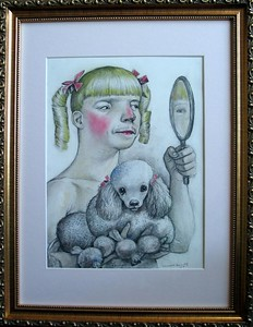 "Scott Brooks, ""Vanity"" (from the Seven Deadly Sins), 2004, Graphite, Mixed media; Retail: $ 400."