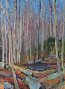 "Brenda M. Sylvia, ""Trail View,"" ( 2004 ) Oil on canvas, Retail: $ 950."
