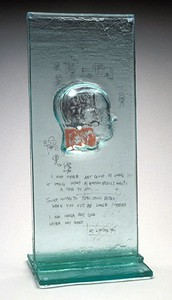 """Michael Janis,  """"Head,"""" (2004) Clear cast glass; from the """"Body Language"""" Series"""