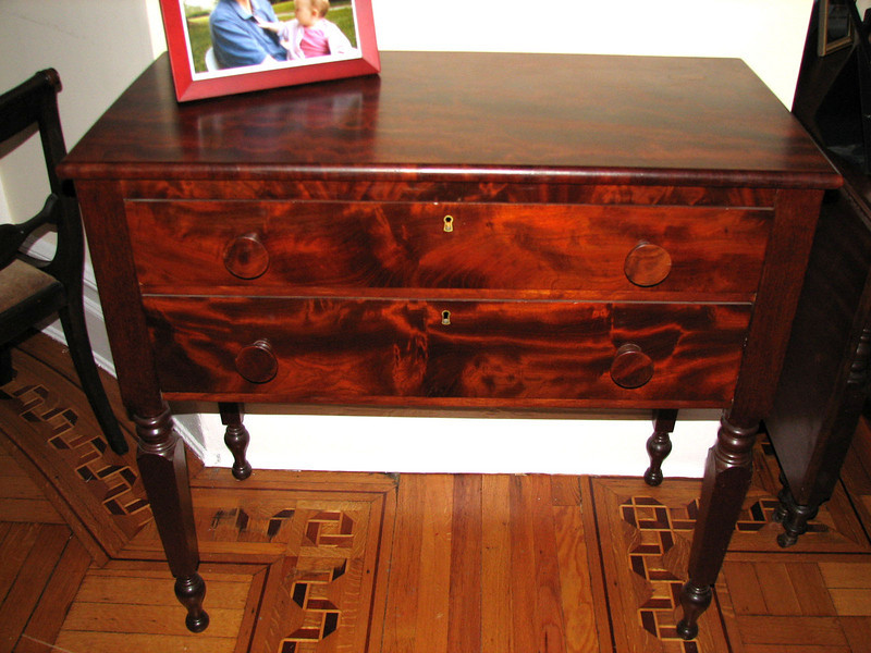 American Empire mahogany server, probably Boston.