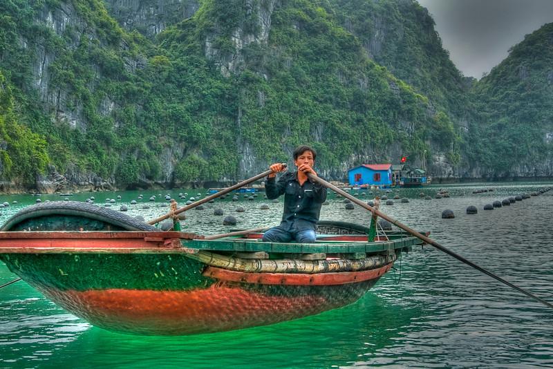 Fisherman from Hallong Bay, Vietnam light hdr