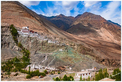 Diskit Monastery Complex - Note the Range of Colours in the Mountains, Nubra Valley