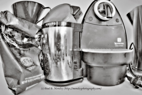 Taken at the height of caffeine withdrawal ... my dormant coffee gear