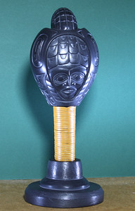 Shaman Rattle , rear view.