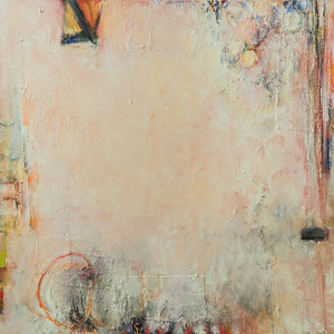 """Subject to One, no 2""; oil & collage on canvas; 42"" x 42"" (106.68 cm x 106.88 cm)"