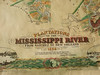 Detail of 1858 Plantation Map, Natchez to New Orleans.<br /> <br /> Hand painted Mississippi River Plantations reproduction, 1858<br /> <br /> Antiqued, hand-painted reproduction of the PLANTATION MAP, 1858, South from Natchez, Mississippi, including parts of Arkansas, and Louisiana