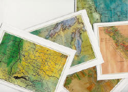 "Note cards of map details are available for all maps. Ask us how to get your favorite detail on a 5x7"" quality note car.<br /> <br /> $4.95 for each individually packaged card. <br /> ""Every card is a gift in itself!""<br /> Phone 888-255-7726 to Order or Inquire."