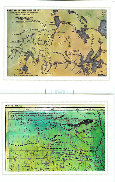 """Two more samples of map details. In this case, these are actually the full map reduced to 5x7"""". The detail of the maps on the note cards is superb. $4.25 each on quality note card stock, individually packaged with envelope. """"Each card is a gift in itself!"""""""