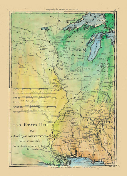 "French LES ETATS UNIS. One of the first known applications of the name ""United States."""