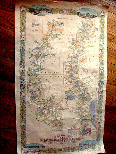 "1858 Plantation Map<br /> Hand Painted in exquisite Detail! <br /> 1858 Plantation Map, Ivory<br /> 36"" x 57""     <br /> $600<br /> Call 888-255-7726 to ORDER or INQUIRE.<br /> <br /> This most limited edition map is beautifully hand colored and antiqued. <br /> <br /> Yes, you may commission specific styles and colors. Questions? Please call us at 888-255-7726 (days only, please!)"