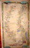 full length handpainted reproduction by Lisa Middleton of 1858 Plantation Map