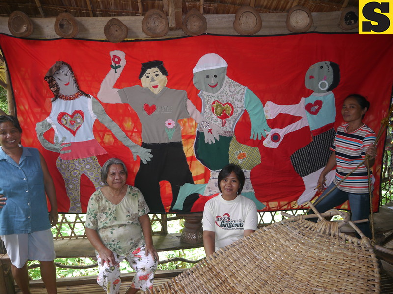 CAGAYAN DE ORO. Self portraits tapestry. (Maria Rosalie Zerrudo)
