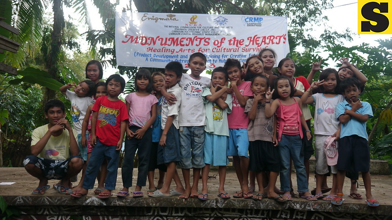 CAGAYAN DE ORO. Children participated in the Monuments of the Hearts. (Maria Rosalie Zerrudo)