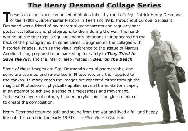 About the Henry Desmond Collage Series