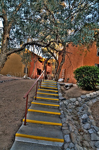 An apartment complex stairway in Tucson, Arizona