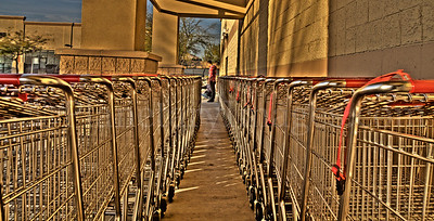 Grocery carts can make for abstract perspectives