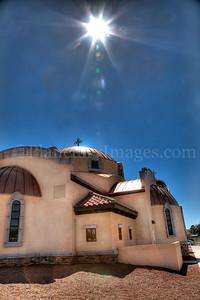 The Tucson sun blazed over Holy Resurrection Church.