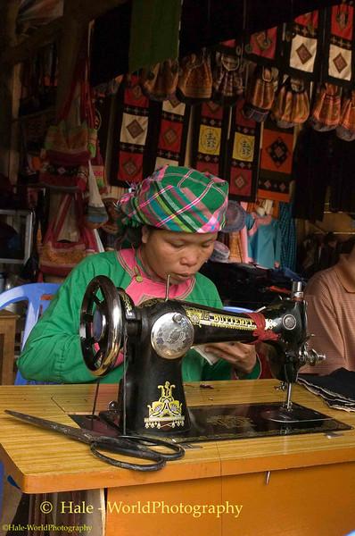 Hmong Woman at Work, Sapa Vietnam