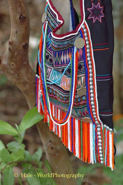 Akha Hill Tribe Man's Shoulder Bag, Chiang Rai, Thailand