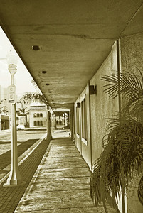 OLD FORT MYERS,SEPIA EFFECT