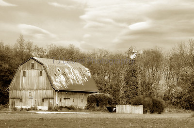 QUILTED BARN SEPIA