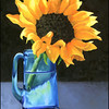 - Sunflower & Blue Vase -