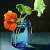 - Nasturtium & Blue Vase -