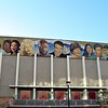 """In 2002, artist Eloy Torrez painted a mural of 13 famous entertainers, titled """"Portrait of Hollywood"""", across the entire east wall of the school's auditorium. From left to right, the entertainers displayed are Dorothy Dandridge, Dolores del Río, Brandy Norwood, Selena, Lana Turner, Laurence Fishburne, Cantinflas, Carol Burnett, Cher, Ricky Nelson, Bruce Lee, Rudolph Valentino and Judy Garland. In 2007, to create a more ethnically diverse piece of art, he added Cantinflas, Lee, Selena, Del Rio, and Valentino who did not attend here. The others actually attended the school."""