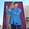Torrez added a 50-foot mural of John Ritter, who died in 2003, around the corner to the right on the north wall. John was student body president when he attended here.