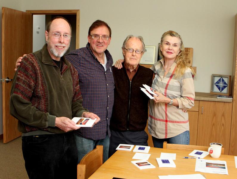 Sonata Artists & Poets (L-R) Greg Bleck & Kent Sweitzer, photographers, Blair Mathews & Donna (AnnaDonna) Carnes, Haiku poets