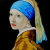 1-Homage to Vermeer - Girl With A Pearl Earring, 11x14, oil, july 13, 2016 DSCN0136