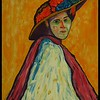 1-Homage to Gabrielle Münter, Portrait of Marianne von Werefkin 1909, 11x14, acrylic on canvas panel, nov 21, 2017. -  IMG_00761.jpg