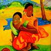 1-Homage to Paul Gauguin Nafea faa ipoipo-1892 16x20, oil, july 24, 2016 DSCN0201 DSCN0201