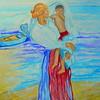 1-Homage to Joaquín Bastida Sororolla - Saliendo Bano  16x18 5, watercolor, july 27, 2016 DSCN0218