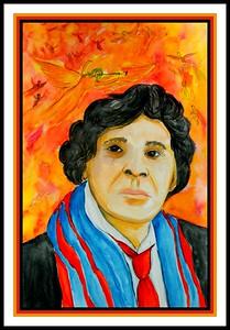Marc Chagall, 12x18, watercolor, may 3, 2017.